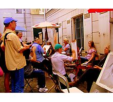 Artists at work in Montmartre! Photographic Print
