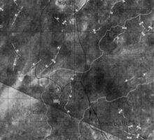 Apollo 16 - Moon Landing Site Map - a16.lsp264 Sticker