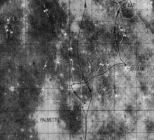 Apollo 16 - Moon Landing Site Map - a16.lsp266 Sticker