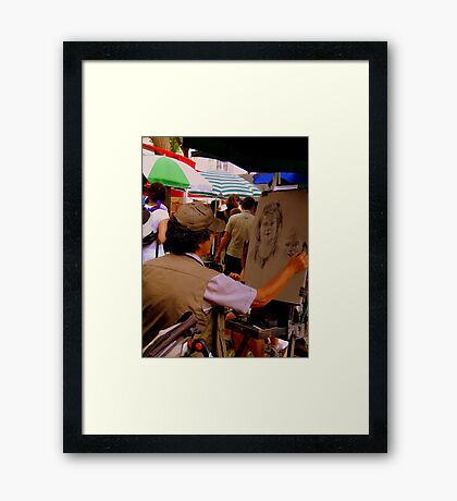 Sketching from Life!! Framed Print