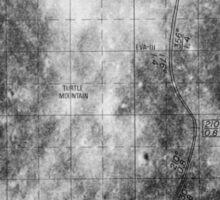 Apollo 16 - Moon Landing Site Map - a16.lsp267 Sticker