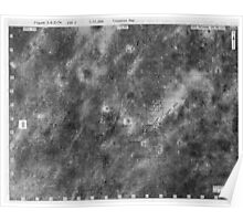 Apollo 16 - Moon Landing Site Map - a16.lsp268 Poster