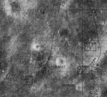 Apollo 16 - Moon Landing Site Map - a16.lsp268 Sticker