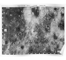 Apollo 16 - Moon Landing Site Map - a16.lsp270 Poster