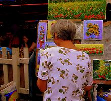 Artist at work in Montmartre! by Rusty  Gladdish