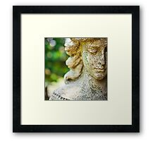 Memphis Elmwood Cemetery - Girl With Cross Square Framed Print