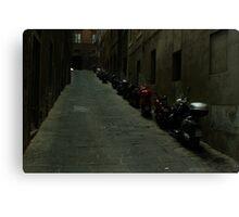 Siena Vespas Canvas Print