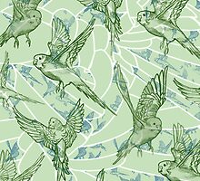 Budgie Pattern by roxygen