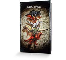 Dino Jenga! Greeting Card
