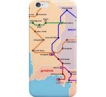 Middle-Earth metro map iPhone Case/Skin