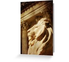 Lion in the Sun Greeting Card