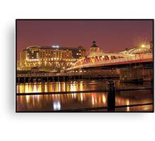 Newcastle Swing Bridge (HDR using Photomatix) Canvas Print