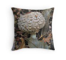 Shaggy Parasol Mushroom Throw Pillow