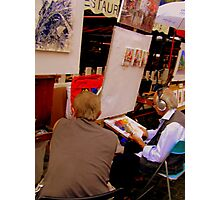 Two artists chatting in Montmartre! Photographic Print