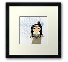 Native American Indian Girl  Framed Print