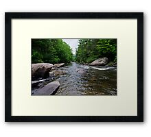 looking down river Framed Print