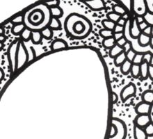 zentangle a: black/white  Sticker