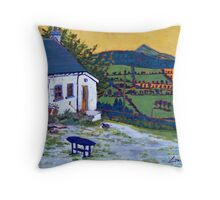 Shillelagh Cottage, Wicklow Throw Pillow
