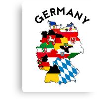 germany country political flag map Canvas Print