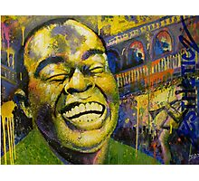 """Satchmo"" (Jazzy Cake Paint) Photographic Print"
