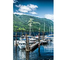 Port Alice Public Dock Photographic Print