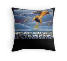 MATTHEW 18:9  - THINE EYE OFFENDS Throw Pillow