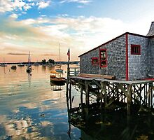 Boothbay Harbor Footbridge by T.J. Martin