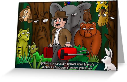 Nature Abhors A Vacuum Cleaner...by Londons Times Cartoons by Rick  London