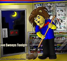 Lion Working In A 7-11 by Londons Times Cartoons by Rick  London