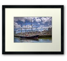 "Sailing Ship ""Tenacious"" - Cork Harbour, Ireland Framed Print"
