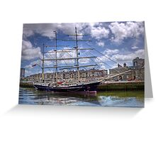 "Sailing Ship ""Tenacious"" - Cork Harbour, Ireland Greeting Card"