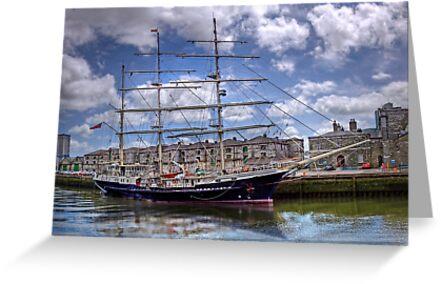 "Sailing Ship ""Tenacious"" - Cork Harbour, Ireland by Mark Richards"