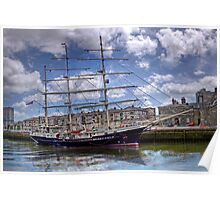 "Sailing Ship ""Tenacious"" - Cork Harbour, Ireland Poster"