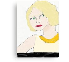 1920s girl Canvas Print