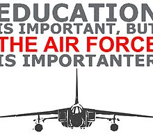 Air Force - Education Is Important But The Air Force Is Importanter! T Shirts, Stickers, Mugs and Bags by zandosfactry