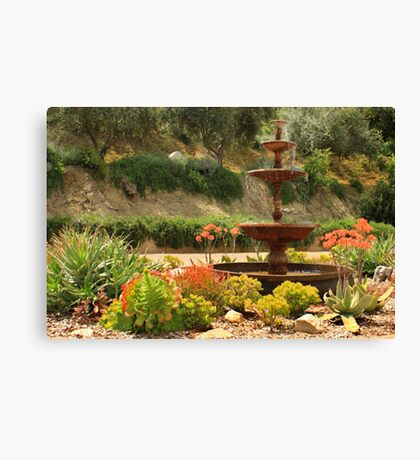 Cactus Fountain Canvas Print