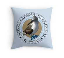 Galapagos Islands Blue Footed Booby Throw Pillow