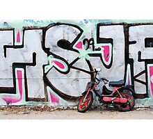 Moped & Graffiti in Berlin (Colour) Photographic Print