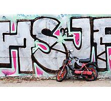 Moped & Graffiti in Berlin (Colour) Photographic Print