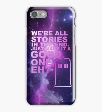 We're All Stories  iPhone Case/Skin