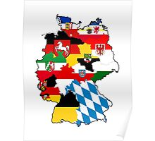 germany country political flag map Poster
