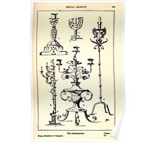 A Handbook Of Ornament With Three Hundred Plates Franz Sales Meyer 1896 0385 Metal Objects Candlestick or Candle Stick Poster