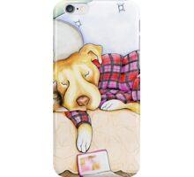 Pit Bull In Pajamas iPhone Case/Skin
