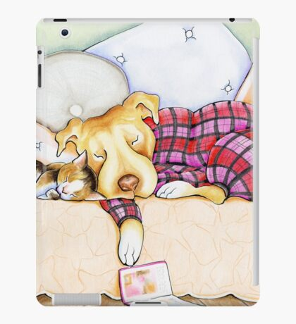 Pit Bull In Pajamas iPad Case/Skin