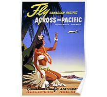 Canada Vintage Travel Poster Restored Poster