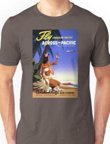 Canada Vintage Travel Poster Restored Unisex T-Shirt