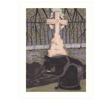 St Nicholas Kirkyard, Aberdeen Art Print
