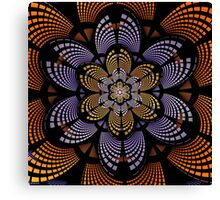Graphic patterns flower in orange, yellow and purple Canvas Print
