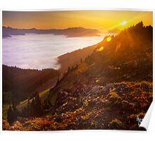 Hurricane Ridge Sunset Poster