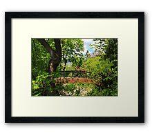 Lithia Park Bridge Framed Print